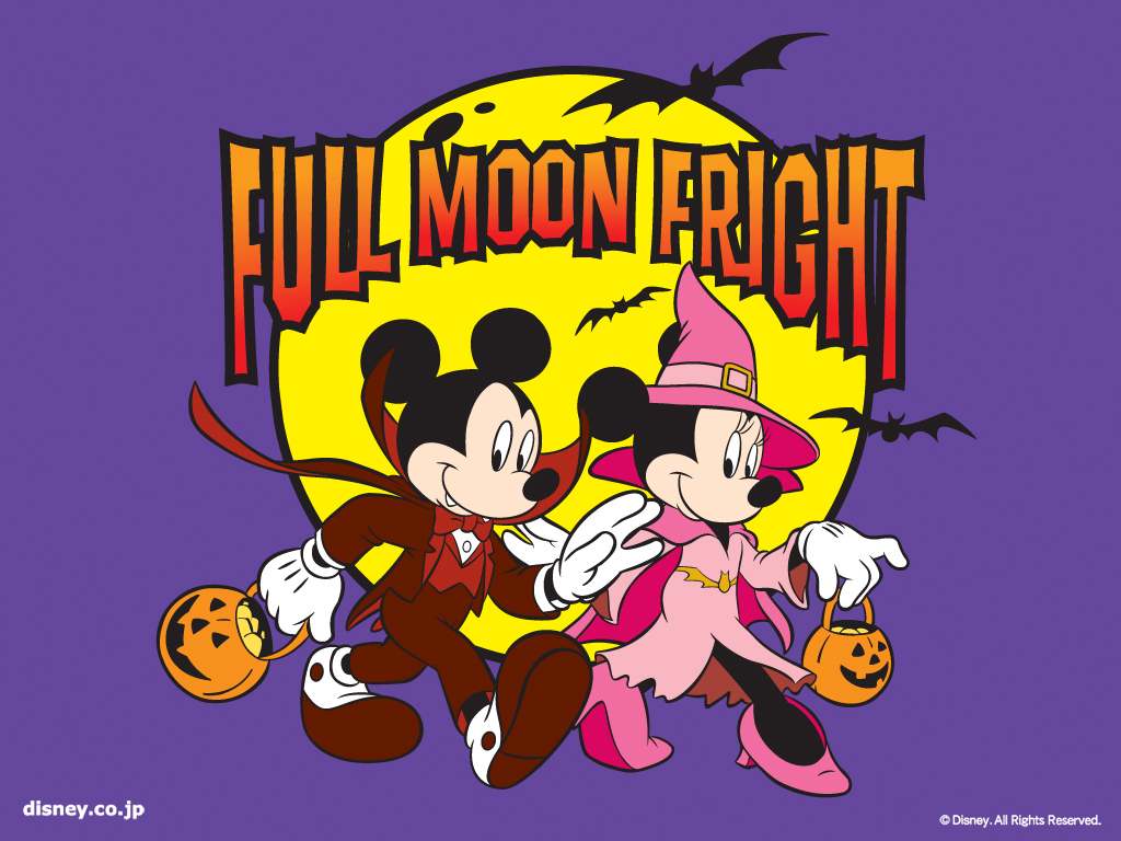 Cartoons Wallpaper: Mickey and Minnie - Halloween