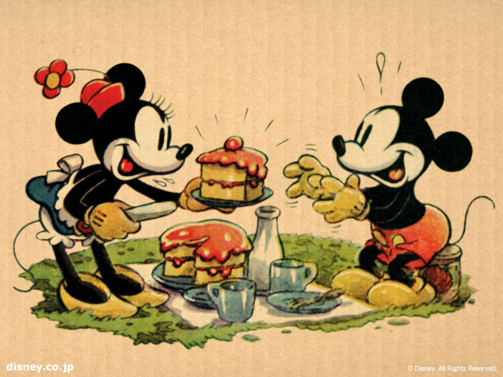Cartoons Wallpaper: Mickey and Minnie