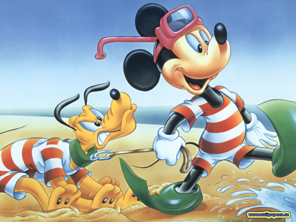 Cartoons Wallpaper: Mickey and Pluto