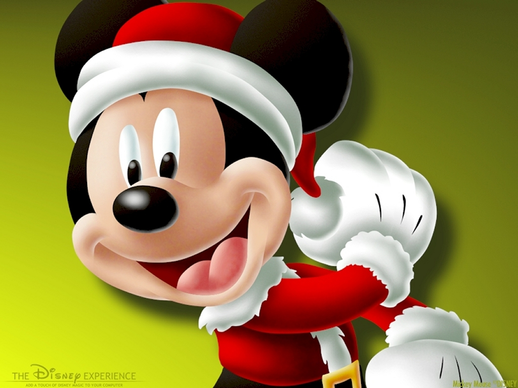 Cartoons Wallpaper: Mickey - Christmas