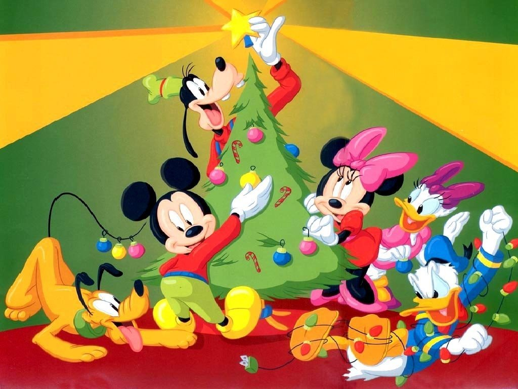 Cartoons Wallpaper: Mickey - Christmas Tree