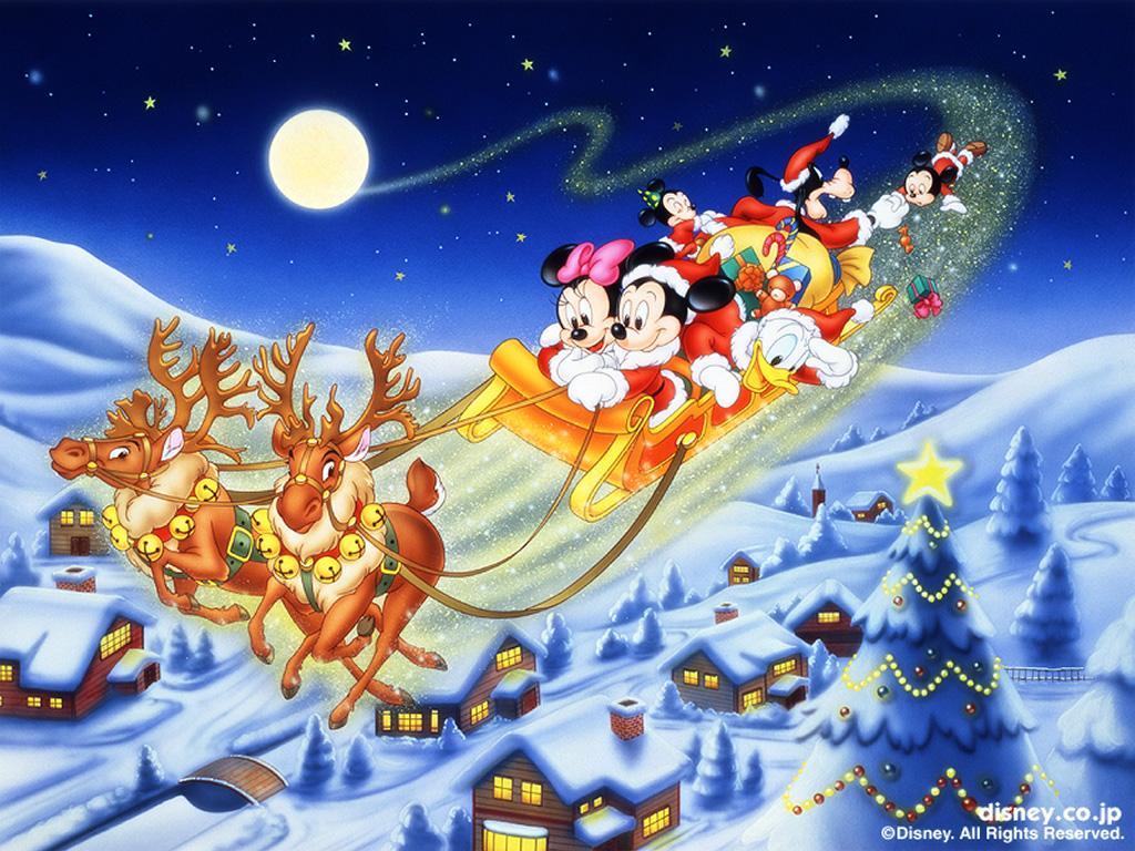 Cartoons Wallpaper: Mickey - Christmas