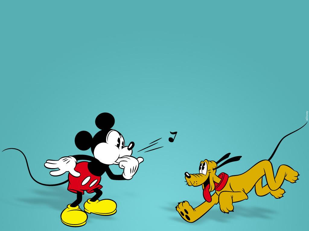 Cartoons Wallpaper: Mickey and Pluto