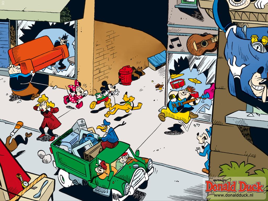 Cartoons Wallpaper: Mickey - Crime City
