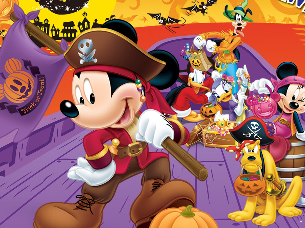 Cartoons Wallpaper: Mickey - Halloween