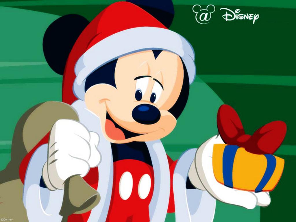 Cartoons Wallpaper: Mickey - Merry Christmas