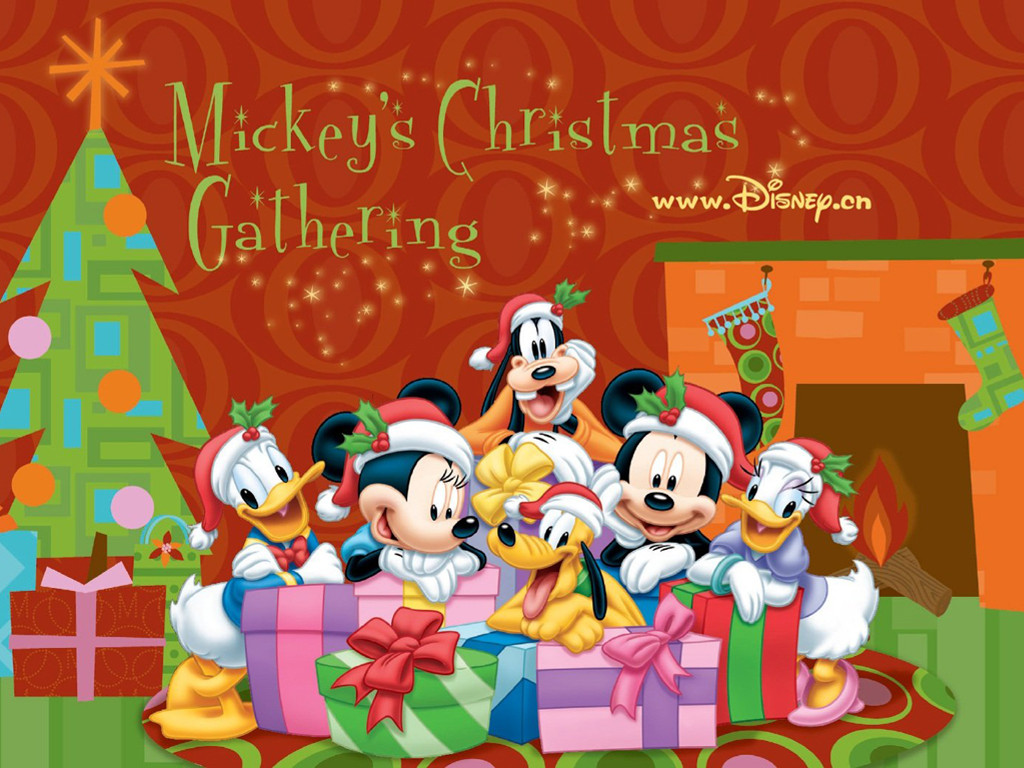 Cartoons Wallpaper: Mickey Mouse and Friends - Christmas