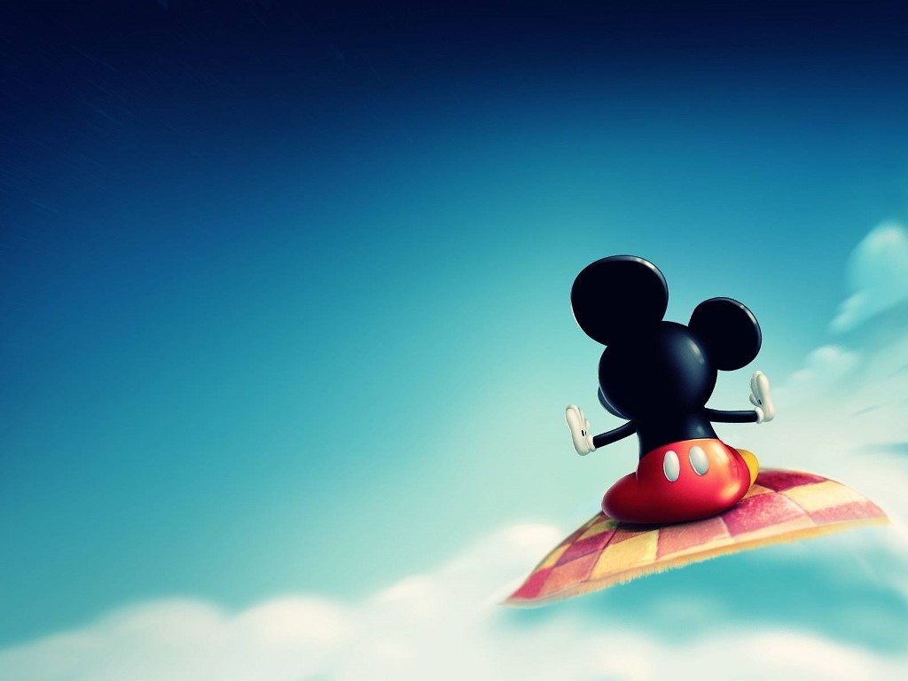 Cartoons Wallpaper: Mickey Mouse - Flying Carpet