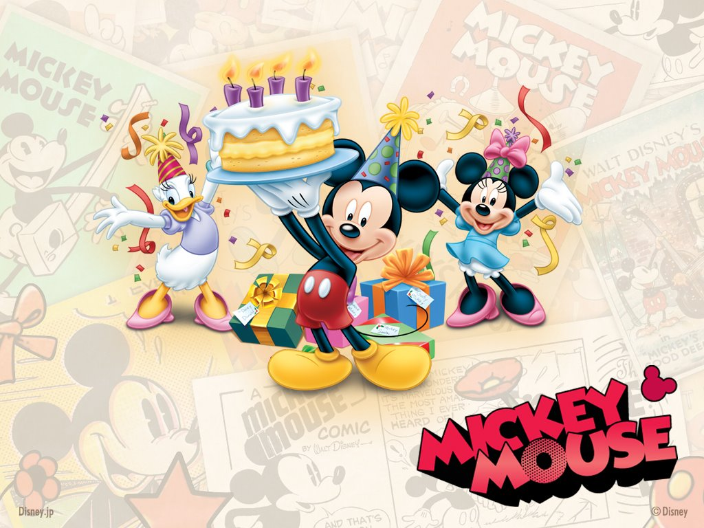 Cartoons Wallpaper: Mickey Mouse - Happy Birthday!