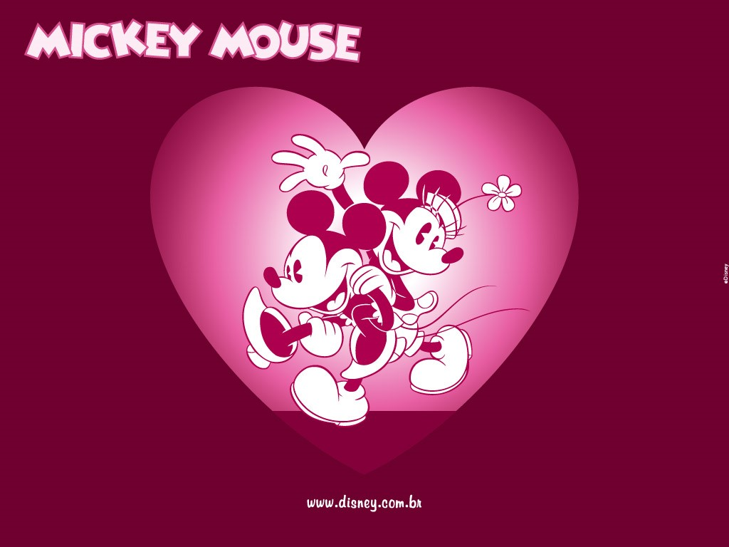 Cartoons Wallpaper: Mickey - Valentine