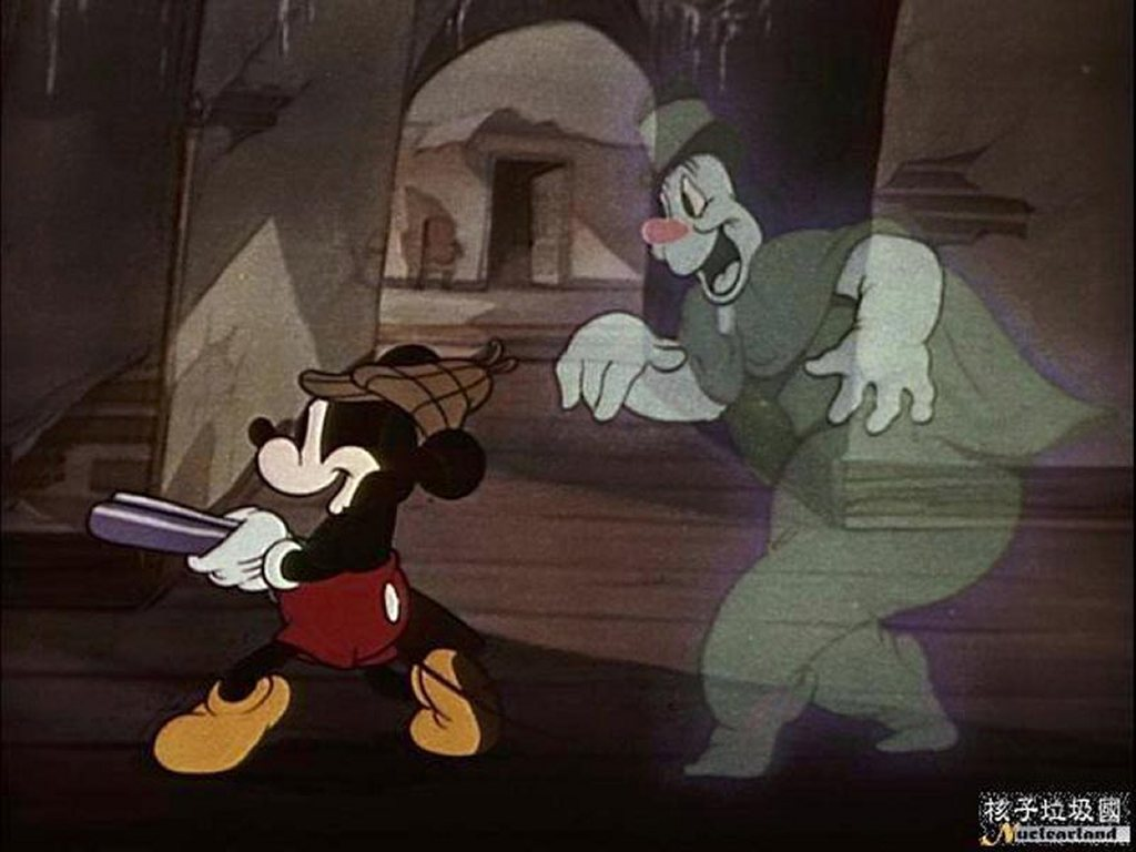 Cartoons Wallpaper: Mickey vs Ghost