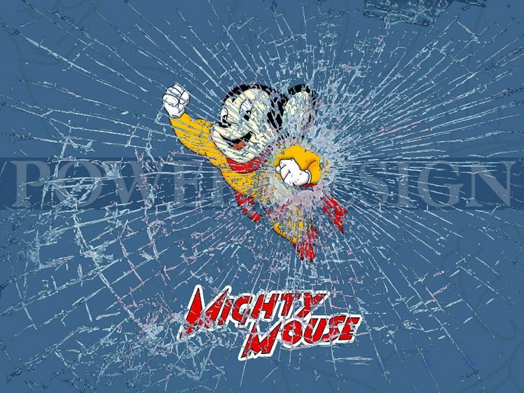 Cartoons Wallpaper: Mighty Mouse