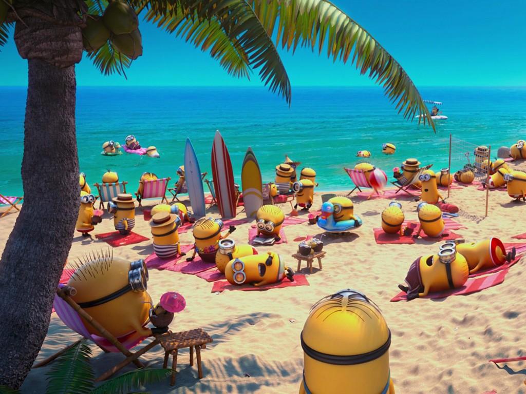 Cartoons Wallpaper: Minions - Beach