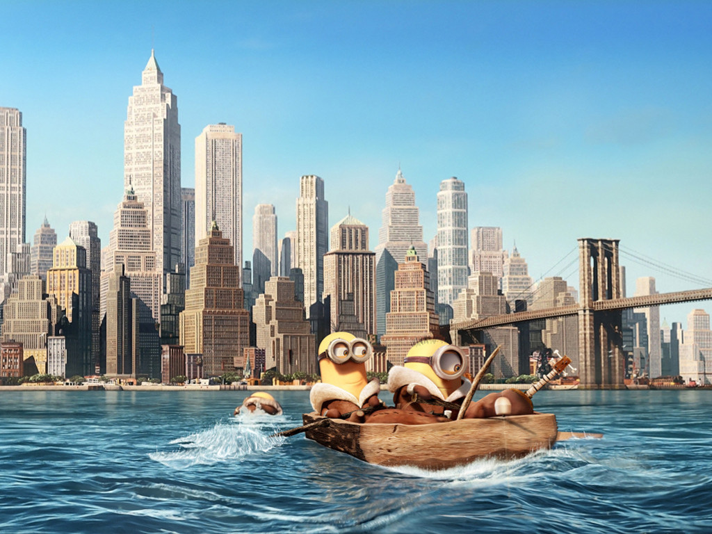 Cartoons Wallpaper: Minions - New York