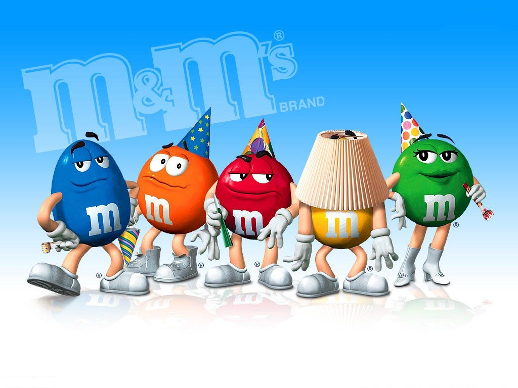 Cartoons Wallpaper: M&Ms Candies Party