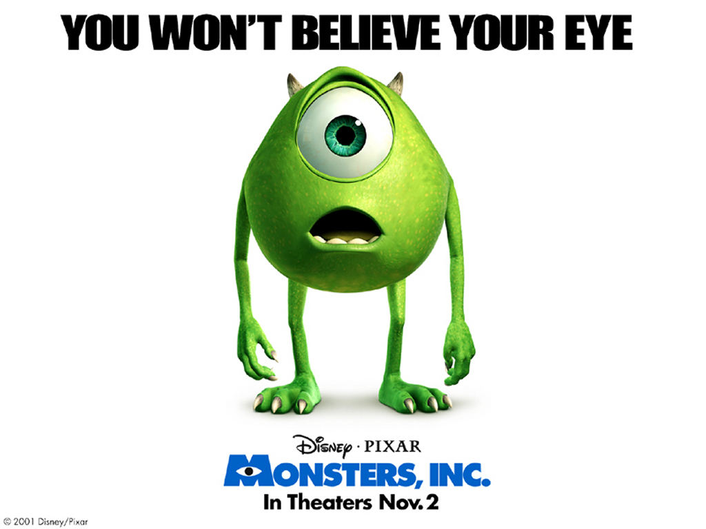 Cartoons Wallpaper: Monsters, Inc