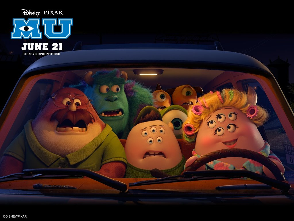 Cartoons Wallpaper: Monsters University