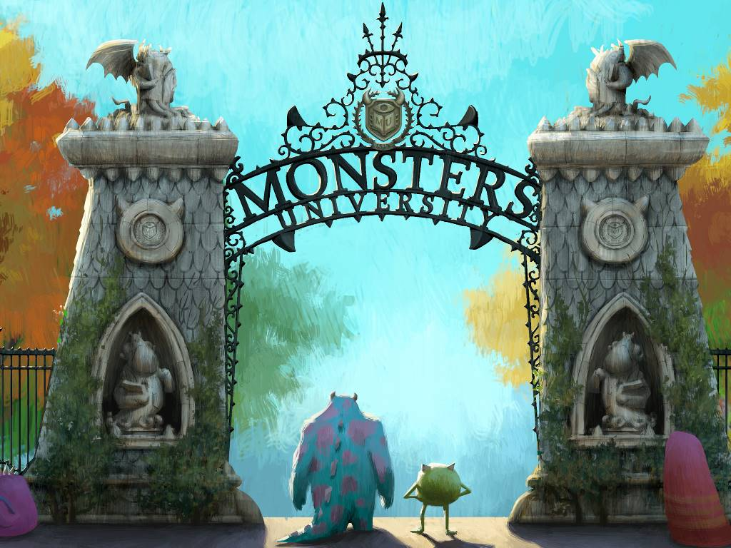 Cartoons Wallpaper: Monsters University