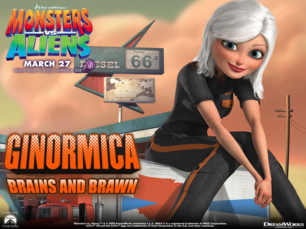 Cartoons Wallpaper: Monsters vs Aliens - Ginormica