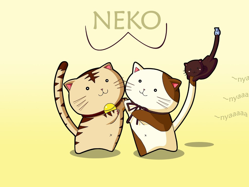 Cartoons Wallpaper: Nekos