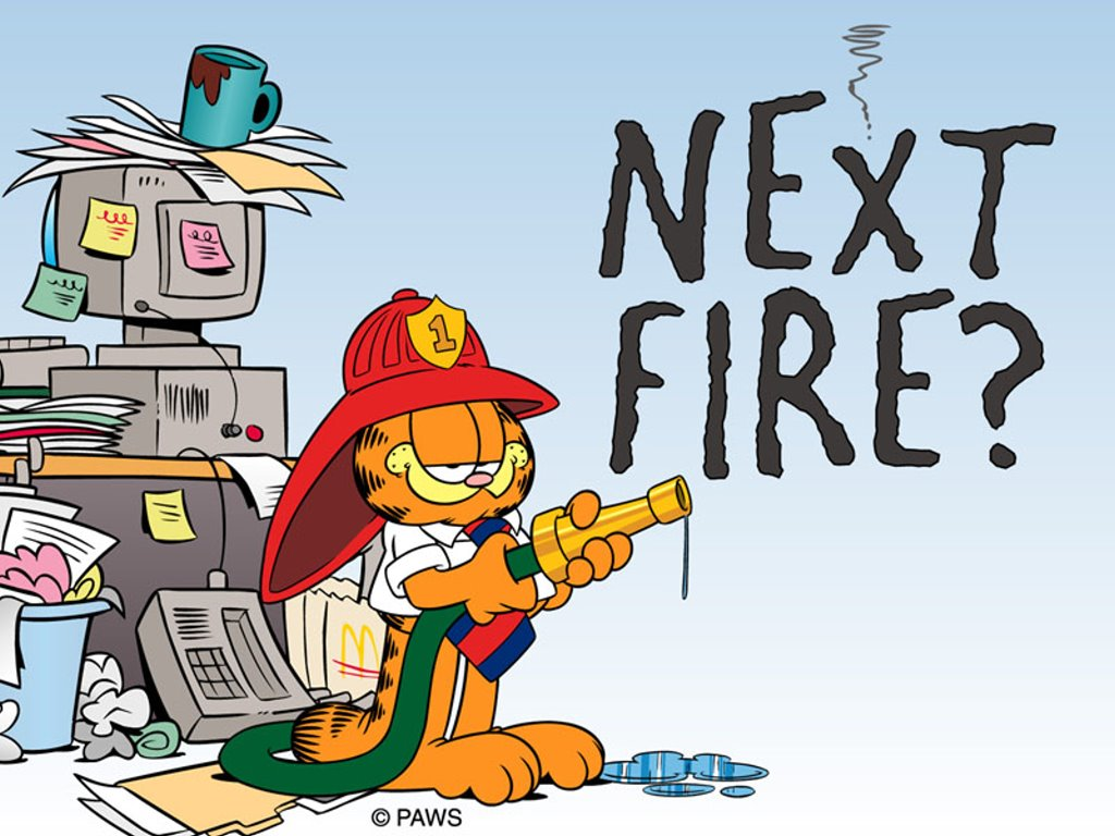 Cartoons Wallpaper: Garfield - Firefighter