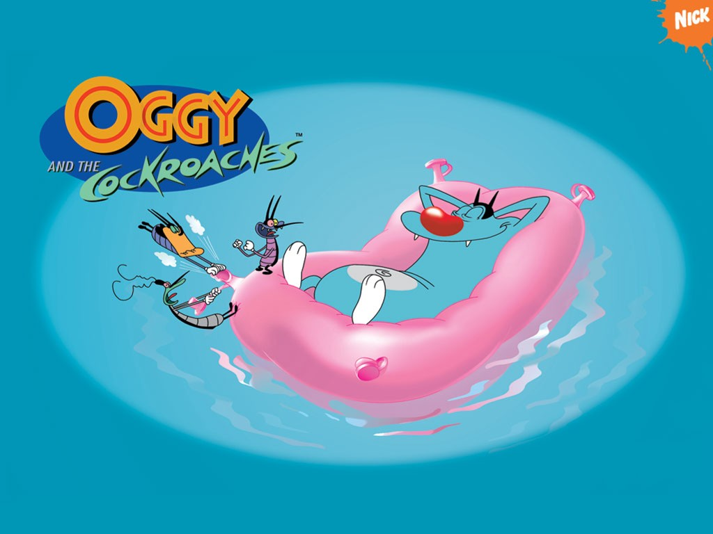 Cartoons Wallpaper: Oggy and the Cockroaches