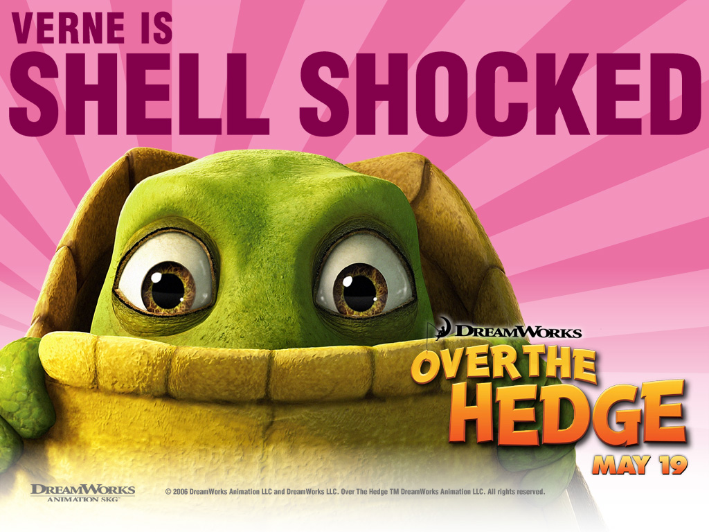 Cartoons Wallpaper: Over the Hedge - Verne