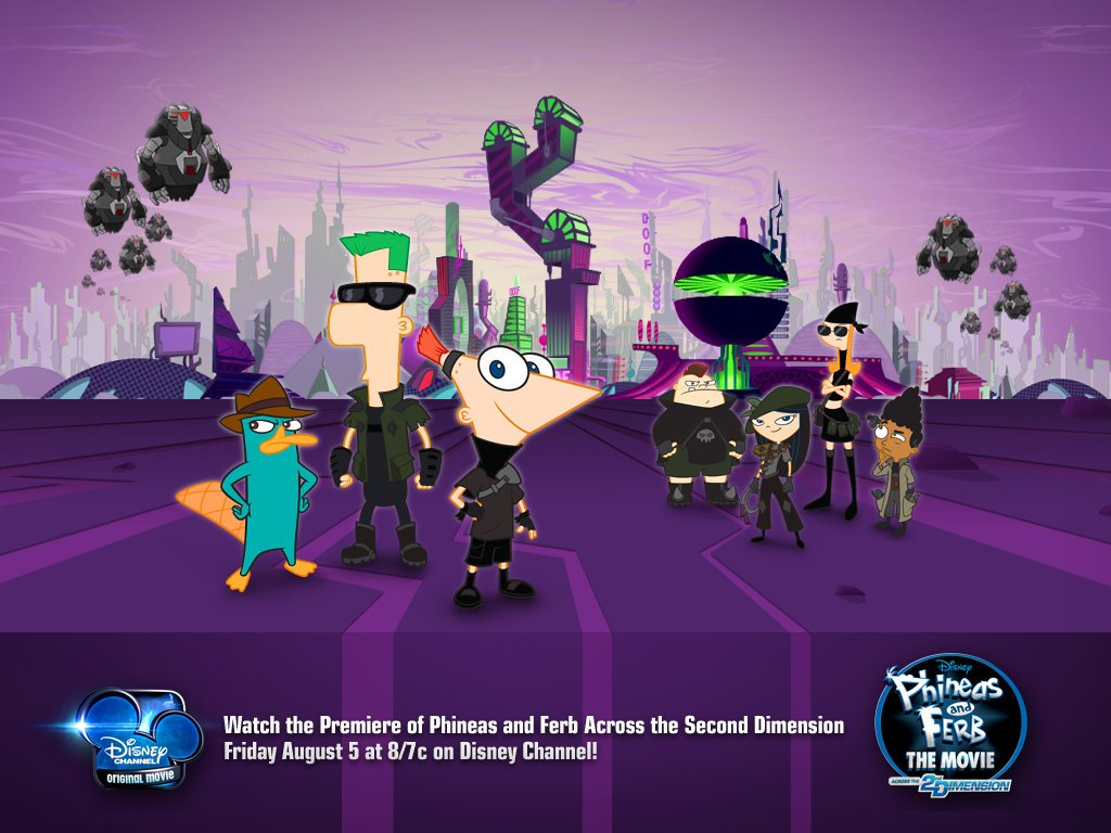 Cartoons Wallpaper: Phineas and Ferb The Movie - Across the 2nd Dimension
