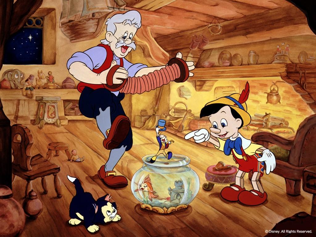 Cartoons Wallpaper: Pinocchio