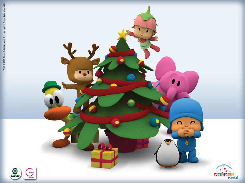 Cartoons Wallpaper: Pocoyo - Christmas