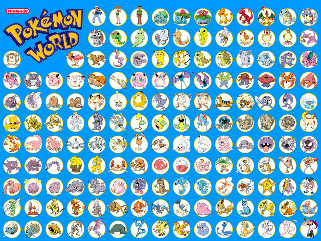 Cartoons Wallpaper: Pokemon World