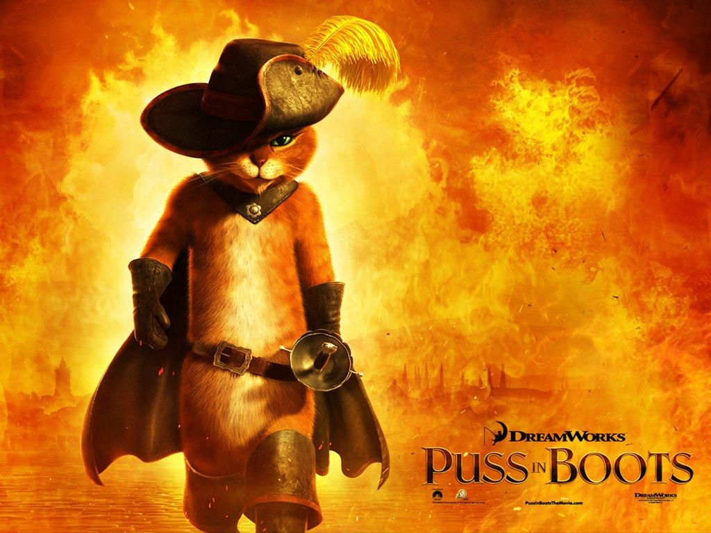 Cartoons Wallpaper: Puss in Boots
