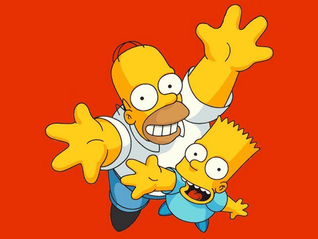 Cartoons Wallpaper: Red Simpsons