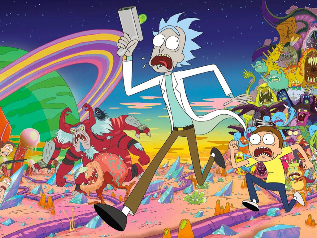 Cartoons Wallpaper: Rick and Morty