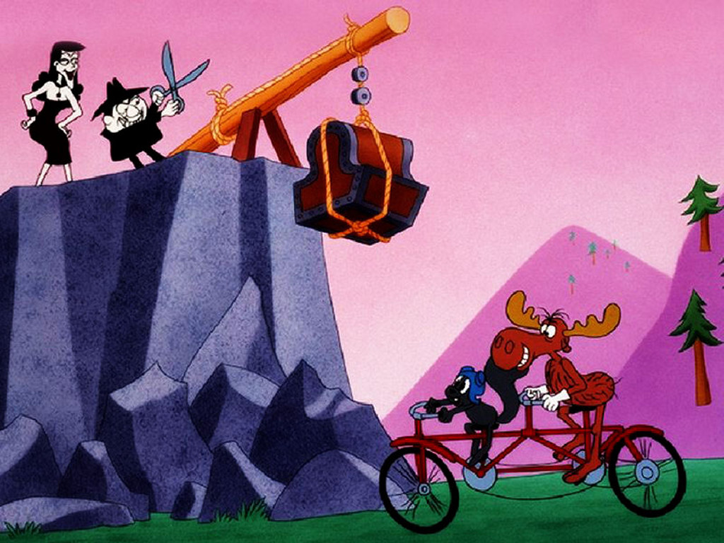 Cartoons Wallpaper: Rocky and Bullwinkle