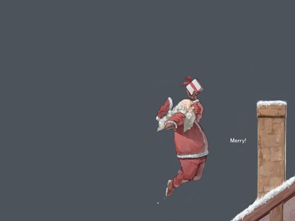 Cartoons Wallpaper: Santa - Basketball