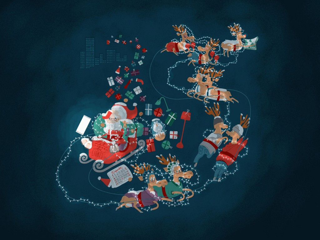 Cartoons Wallpaper: Santa Claus