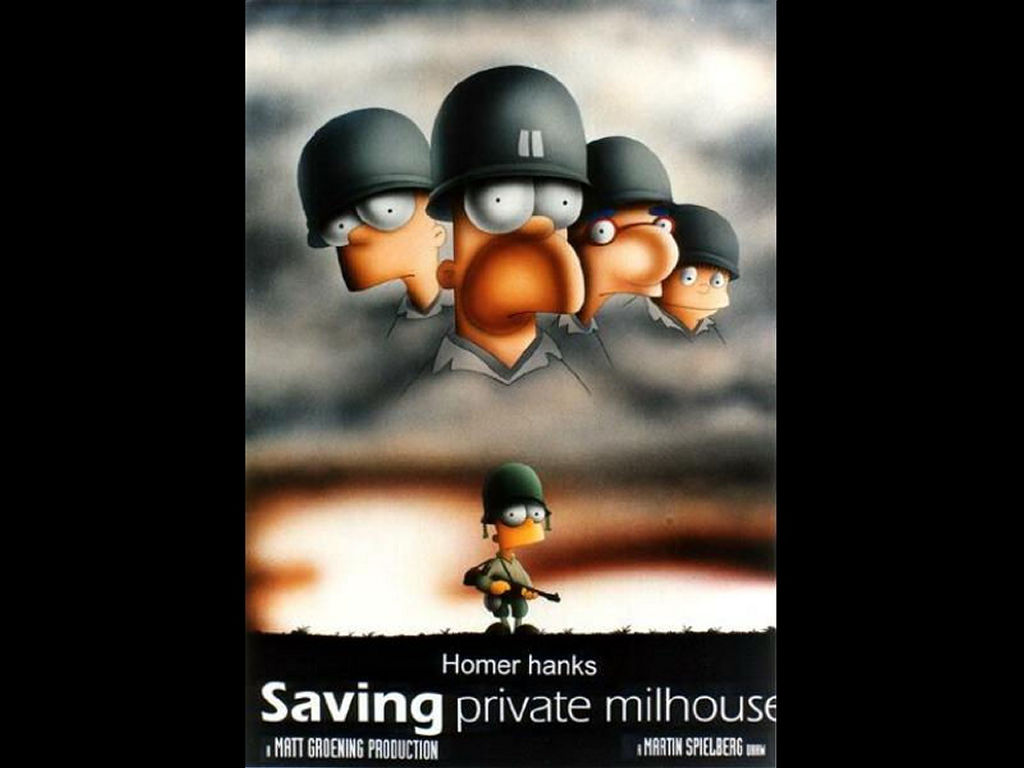Cartoons Wallpaper: Saving Private Millhouse