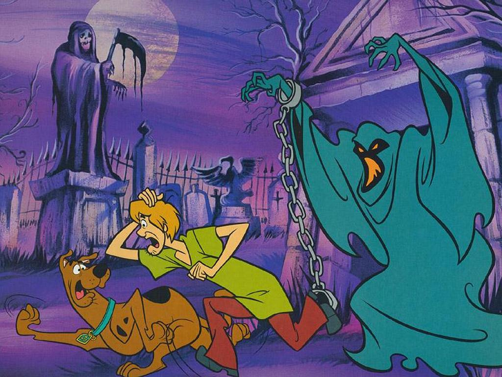 Cartoons Wallpaper: Scooby and Shaggy - Ghost