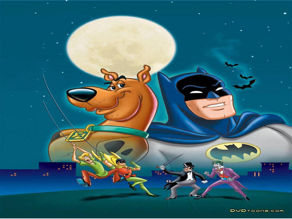 Papel de Parede Gratuito de Desenhos : Scooby-Doo e Batman
