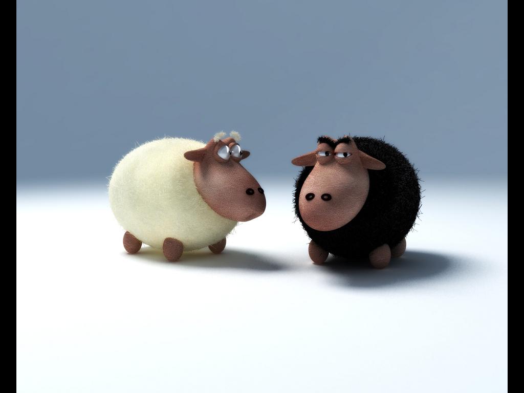 Cartoons Wallpaper: Sheeps