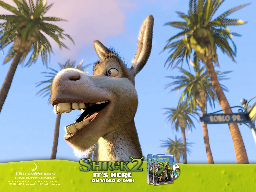 Cartoons Wallpaper: Shrek 2 - Donkey