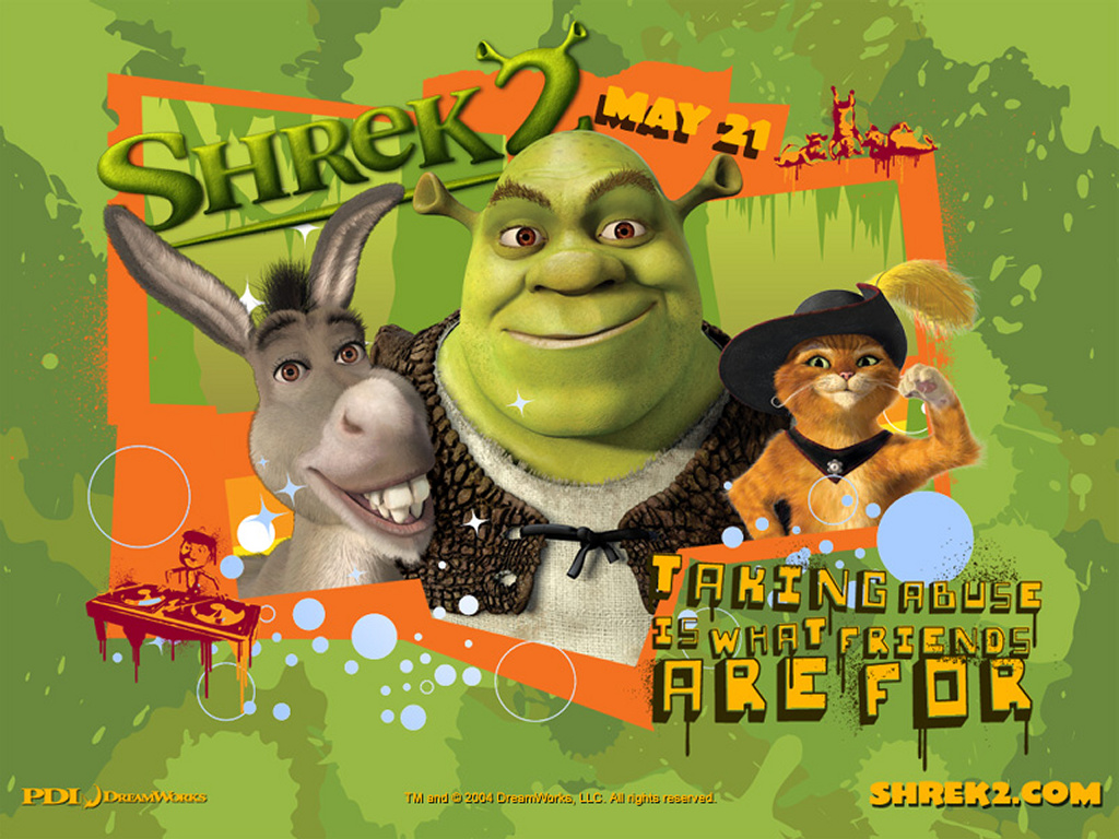 Cartoons Wallpaper: Shrek 2