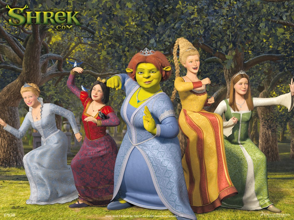 Cartoons Wallpaper: Shrek The Third - Fionna and the Ladies