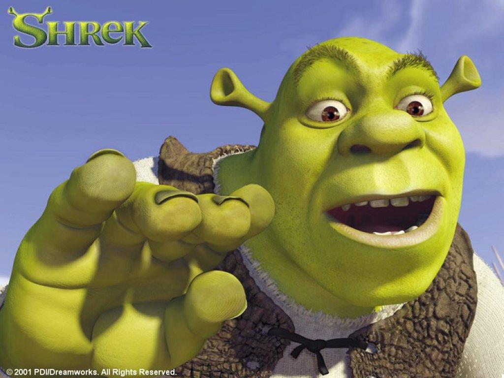 Cartoons Wallpaper: Shrek Close Up
