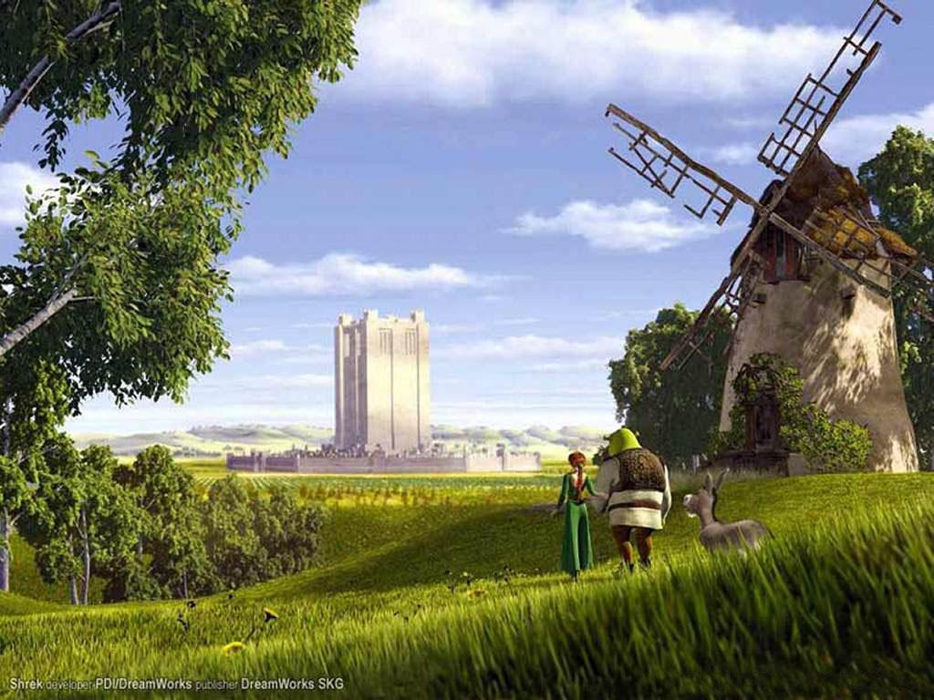 Cartoons Wallpaper: Shrek Scenery