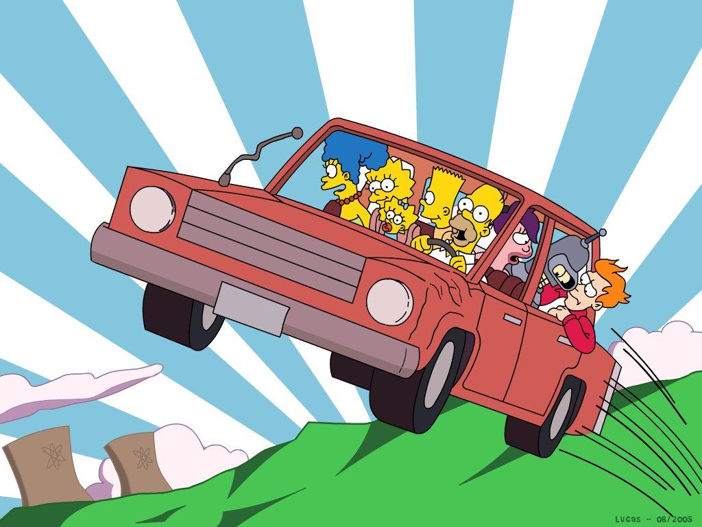 Cartoons Wallpaper: Simpsons and Futurama