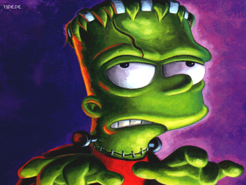 Cartoons Wallpaper: Simpsons - Bart Frankenstein