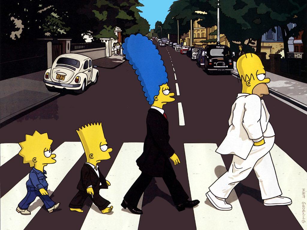 Cartoons Wallpaper: Simpsons - Beatles