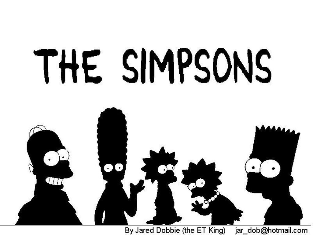 Cartoons Wallpaper: Simpsons Black and White